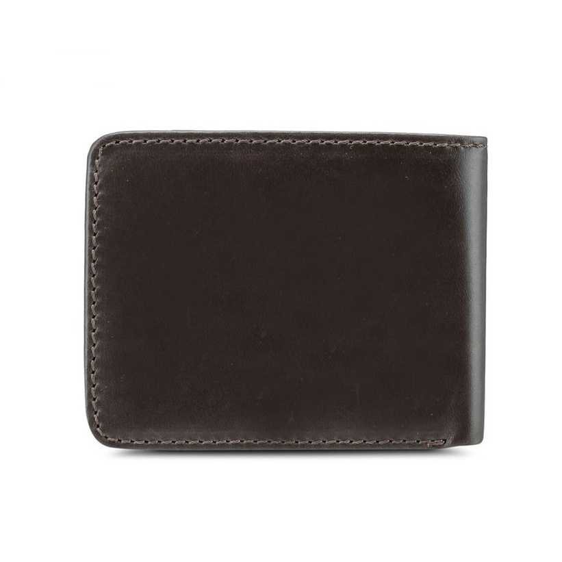 Bi-Fold Leather Wallet - Dark Grey SW 114-2
