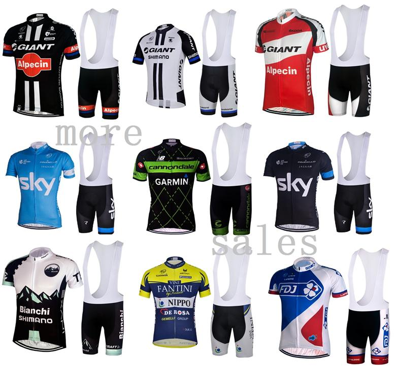 BIB Short Cycling Jersey Set Baju basikal Giant Cannondale SKY. ‹ › 3c39d117d