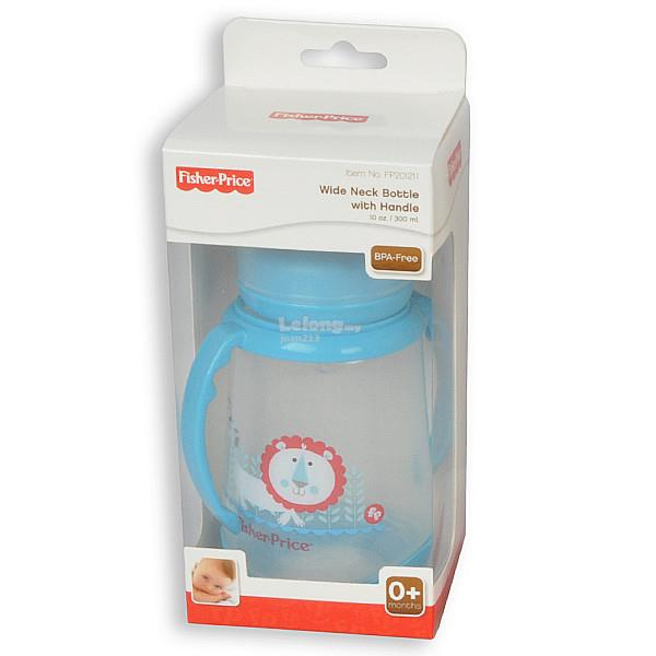 [Bibi] Fisher-Price Feeding Bottle with Handle 10oz / 300ml (Blue)