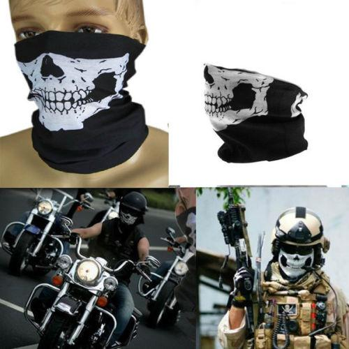 Bicycle Cycle Skull Half Face Mask Multi Use Ghost Scarf Neck Warm