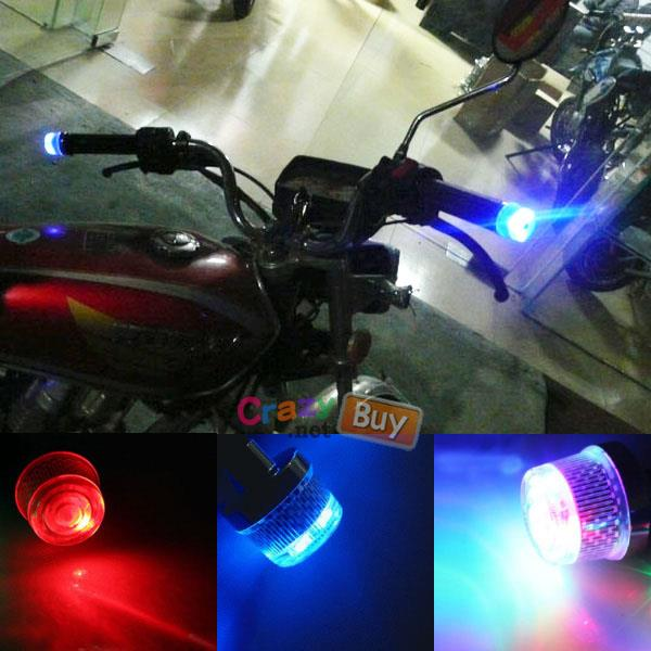 Bicycle motorcycle handlebar bar end end 752016 215 am bicycle motorcycle handlebar bar end push button led flashing lights mozeypictures Choice Image