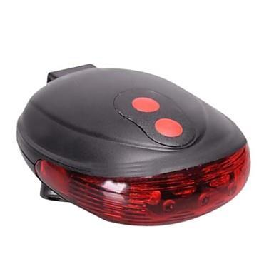 Bicycle Rear Light LED Tail Light Parallel Line 7-Mode w/ Laser Beam