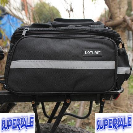 Bicycle Rear Riding Black Bag Bike Basikal Beg Belakang