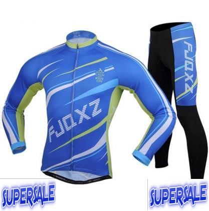 Bicycle Suit Long Sleeve Jersey & Pants Men Women Mountain Bike
