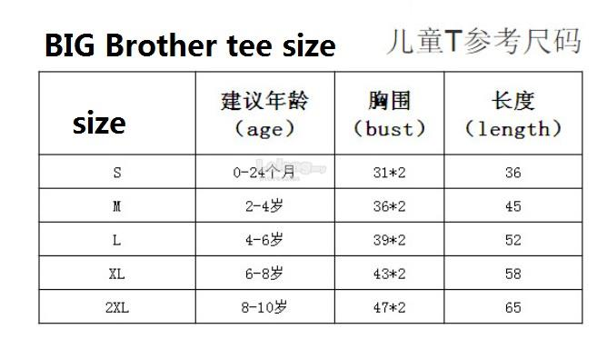 Big Brother Tee T-shirt Little brother romper baby wear