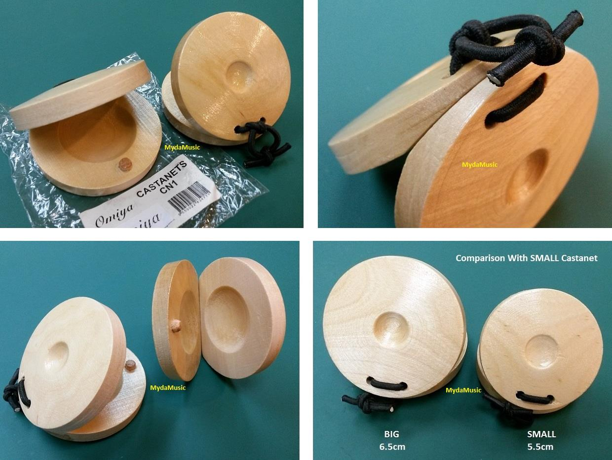 BIG. Hand Percussion Wooden Finger Castanets