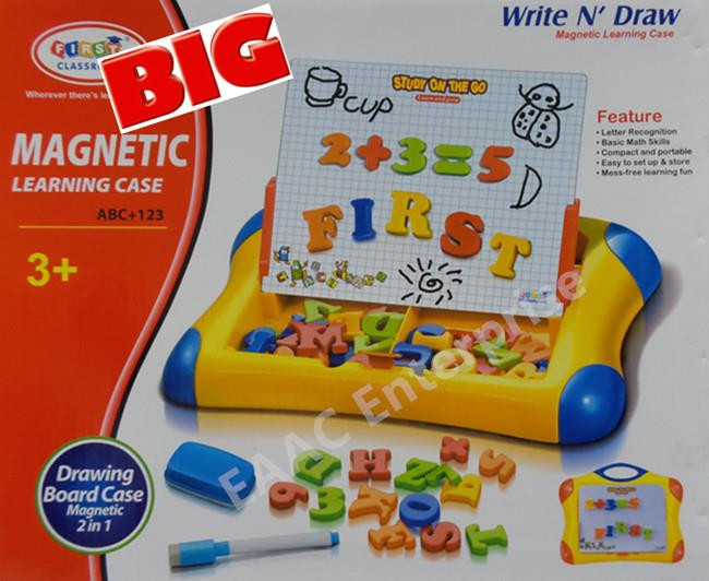 Alphabet Learning Toys : Big magnetic learning case drawing end am