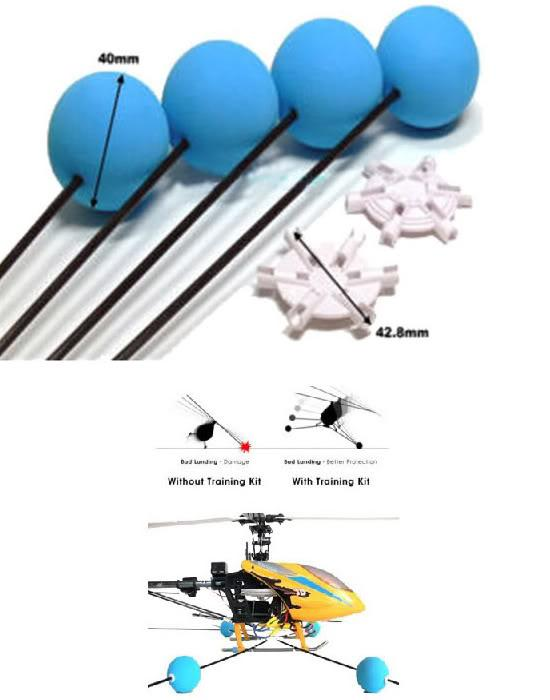 Big R/C Helicopter Carbon Fiber Training Legs Platform For Up to 450 S..