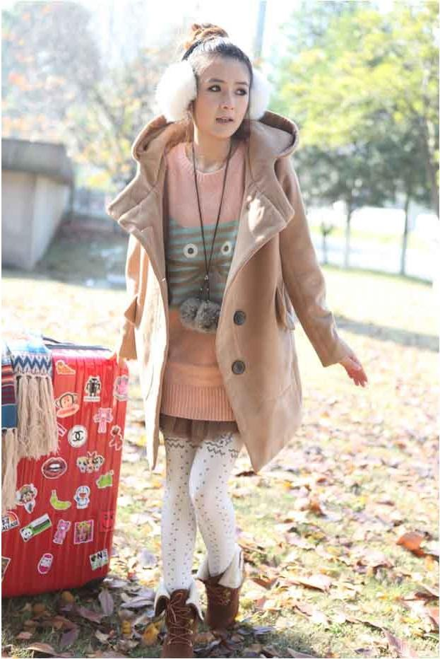 Big Size Winter Coat - color Tan - B1480