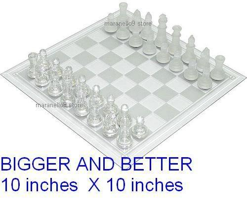 Bigger & Better Special Edition 25cmx25cm Elegant Glass Chess Set