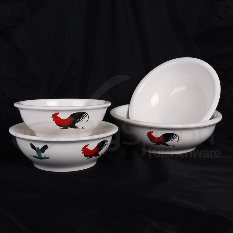"BIGSPOON Ceramic Bowl CNY Soup Noodle Rice Microwave Bowl 10 "" RS-SB10"