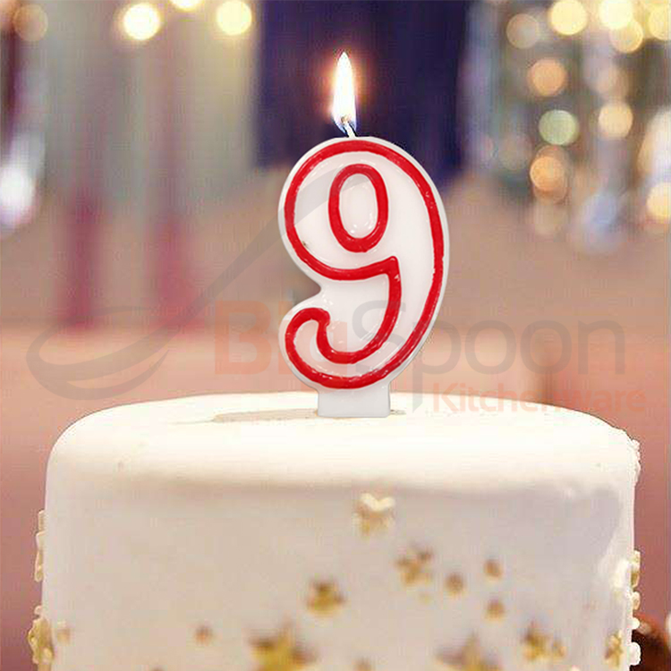 BIGSPOON CH07135 0-9 Cake Number Candle Birthday Numeral Party Candle