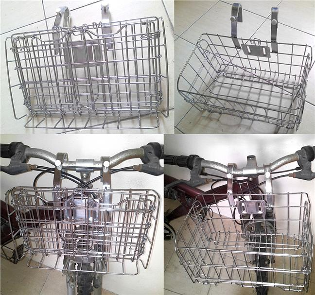 BIKE CYCLING BICYCLE FRONT HANDLEBAR FOLDING BASKET