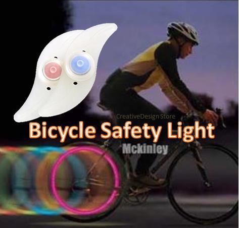 Bike Spoke Safety LED Light Bicycle Wheel Hanging Saddle Lamp