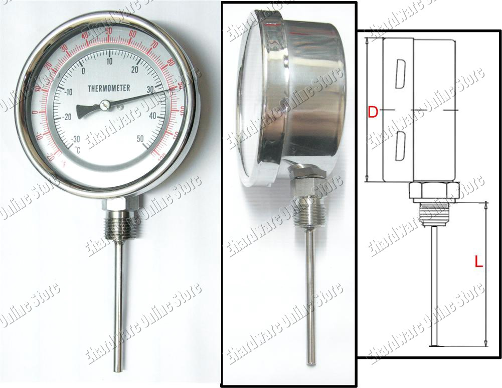 Bimetal Thermometer Bottom Connection (BTBC)