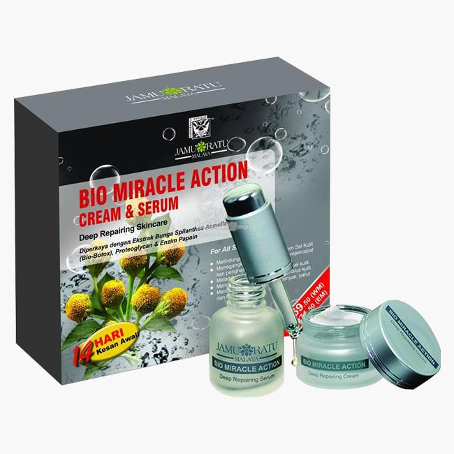 Bio Miracle Action Cream & Serum Jamu Ratu Malaya