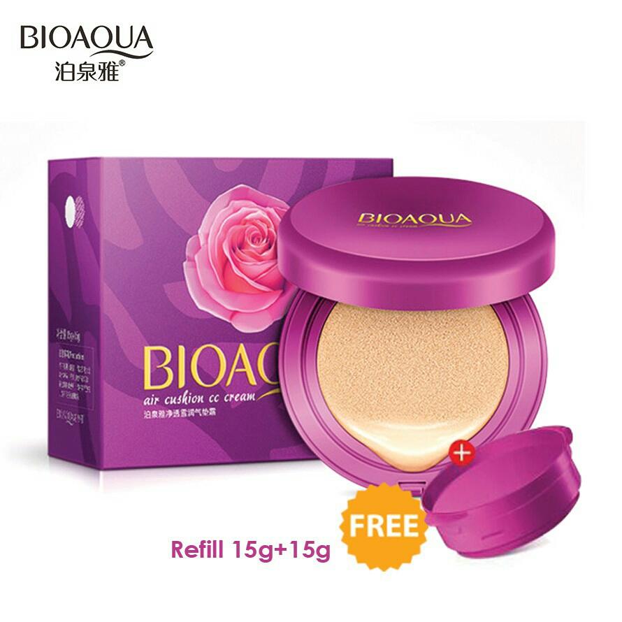 Bioaqua Cc Cream Air Cushion Concealer Makeup Foundation Free Refill
