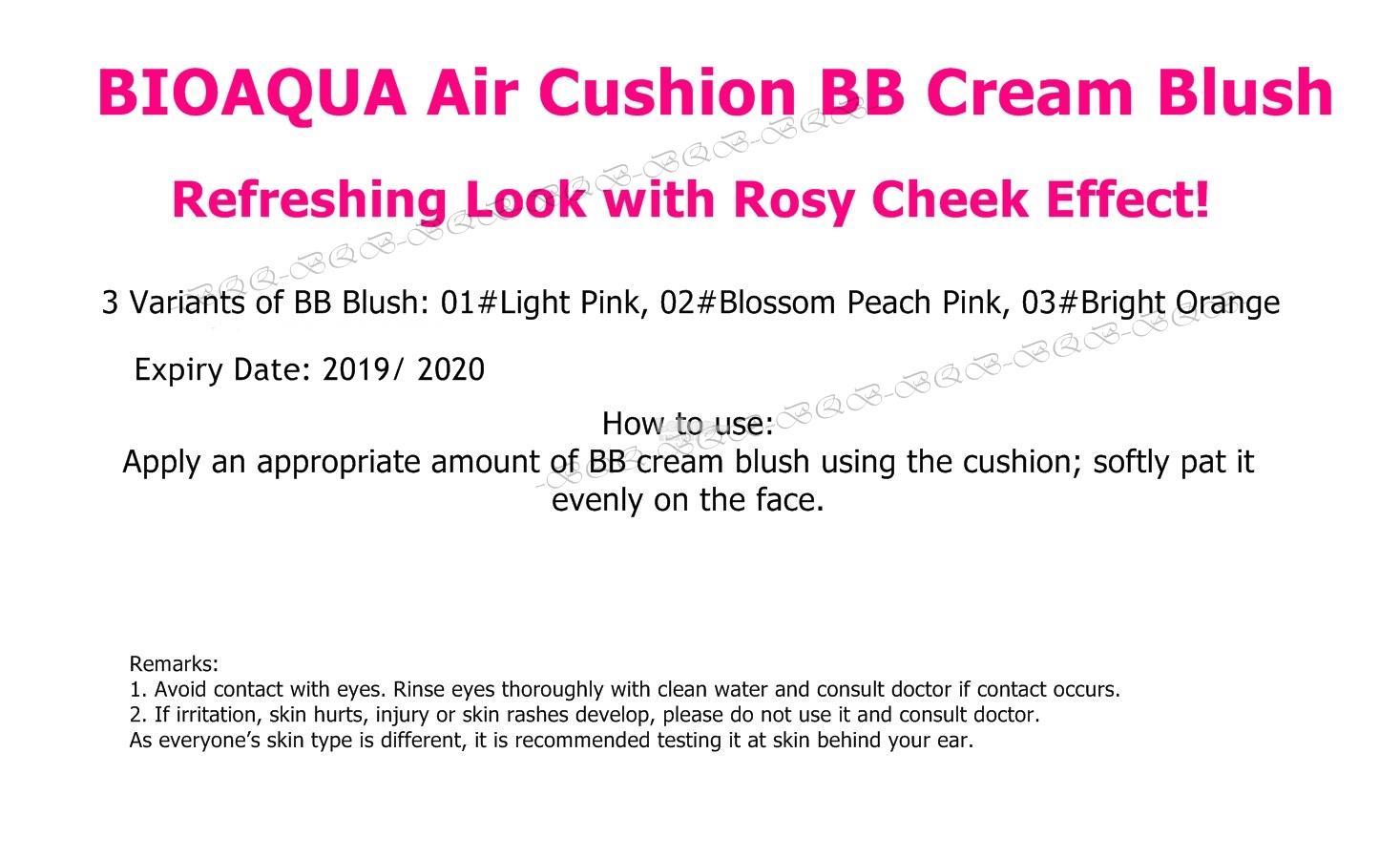 Bioaqua Rosy Blusher Air Cushion Bb End 5 25 2019 915 Am Smoot Muscle Flawless Blush On Cream