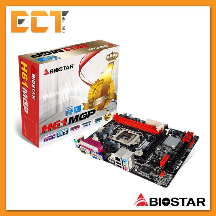 Biostar H61MGP Motherboard for Intel H61 Chipset (Socket LGA 1155)