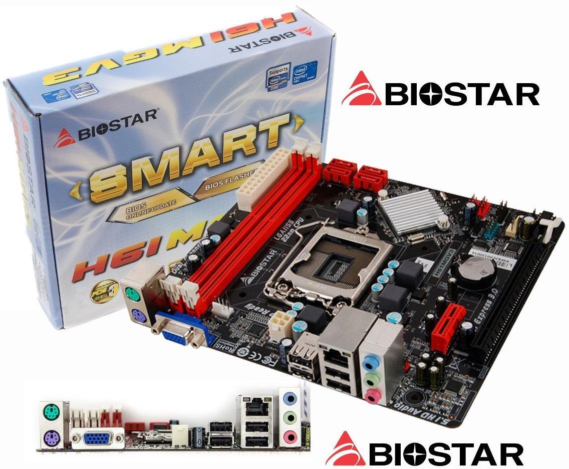 BIOSTAR H61MGV3 INTEL H61 CHIPSET SOCKET LGA 1155 MOTHERBOARD