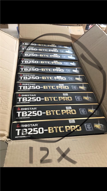 Biostar Tb250 Btc Pro Mining Board 1 End 8 5 2019 239 Am Mobo 12 Pcie Gpu Ready Stock