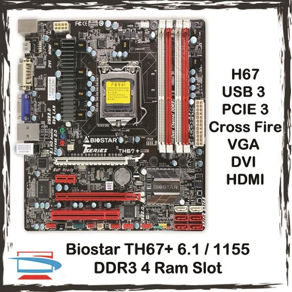 Biostar TH67+ Ver. 6.x 64 BIT