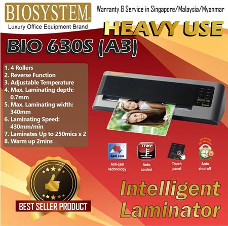 Biosystem Bio 630S ( A3 ) Office Use Laminator ( Cool & Heat )