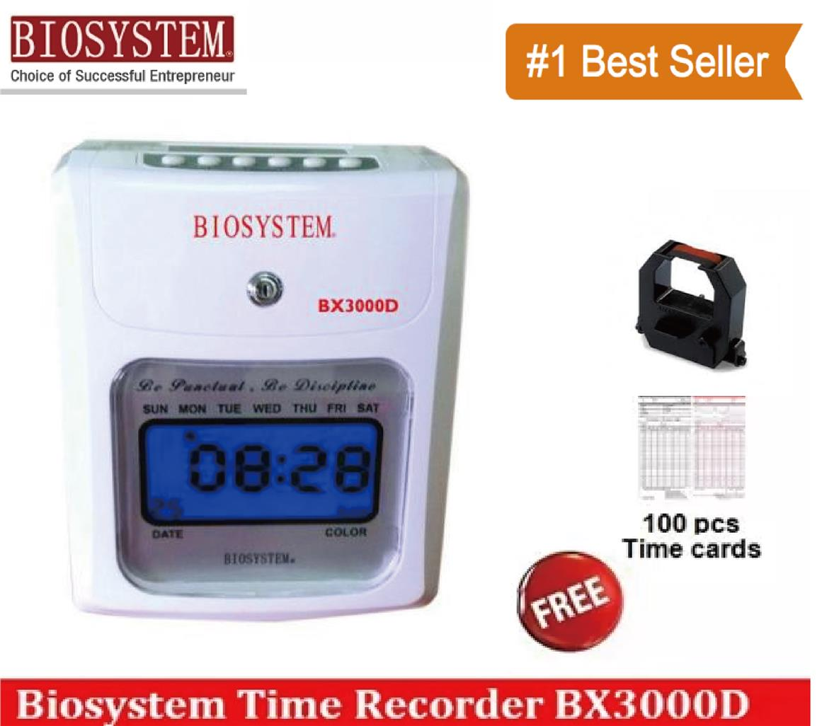 BIOSYSTEM BX3300D HEAVY DUTY TIME RECORDER PUNCH CARD MACHINERY FOC