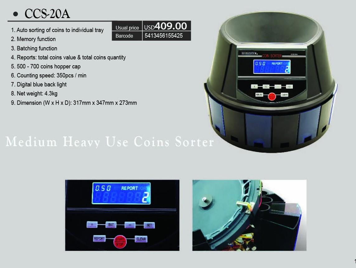 BIOSYSTEM Coin Counter CCS-20A
