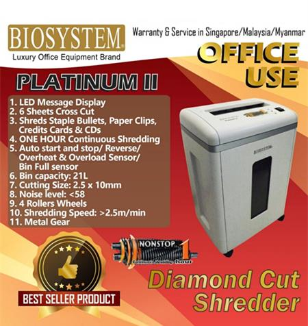 Biosystem Office Use Platimium ll Paper Shredder