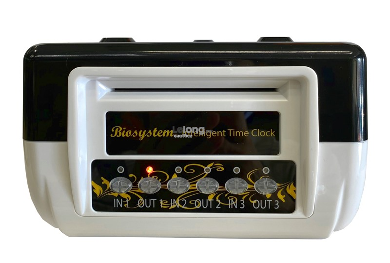 BIOSYSTEM Punch Card Machine Digital Display Time Recorder