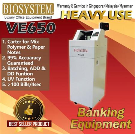 Biosystem VE650 Powerful Vacumn Notes Counter
