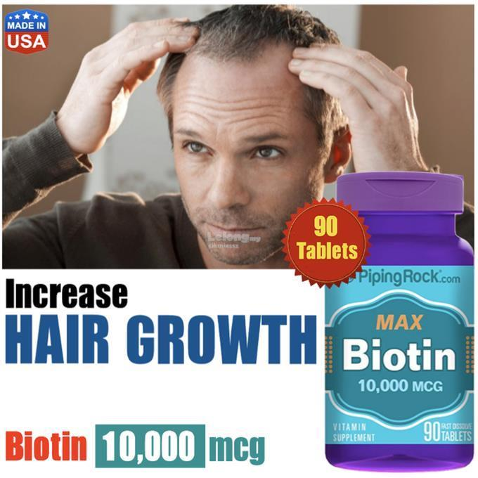 Biotin 10MG, 90 Tablets (Hairloss, Haircare, Hair Growth, Botak)