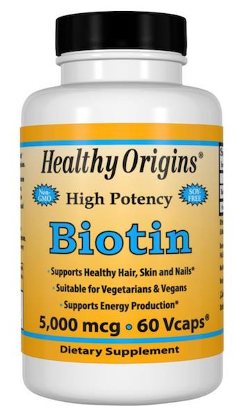 Biotin 5000mcg, 5mg 100% Vegetarian (Hairloss, Botak,Rogaine) USA