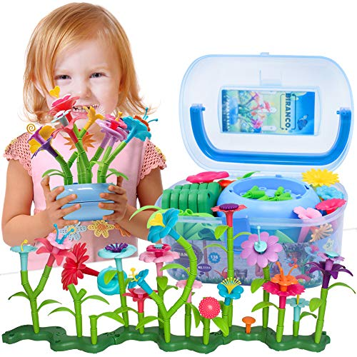 BIRANCO. Flower Garden Building Set - Grow up! Fun Stacking Toys for Toddlers