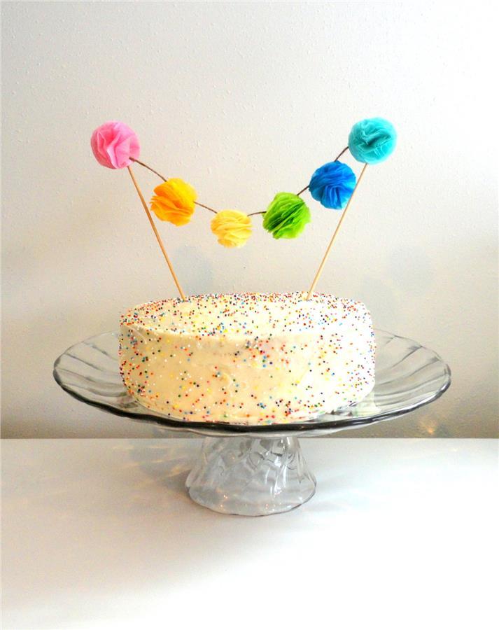 Birthday Cake Topper Pom Pom Beautif End 4172019 315 Pm