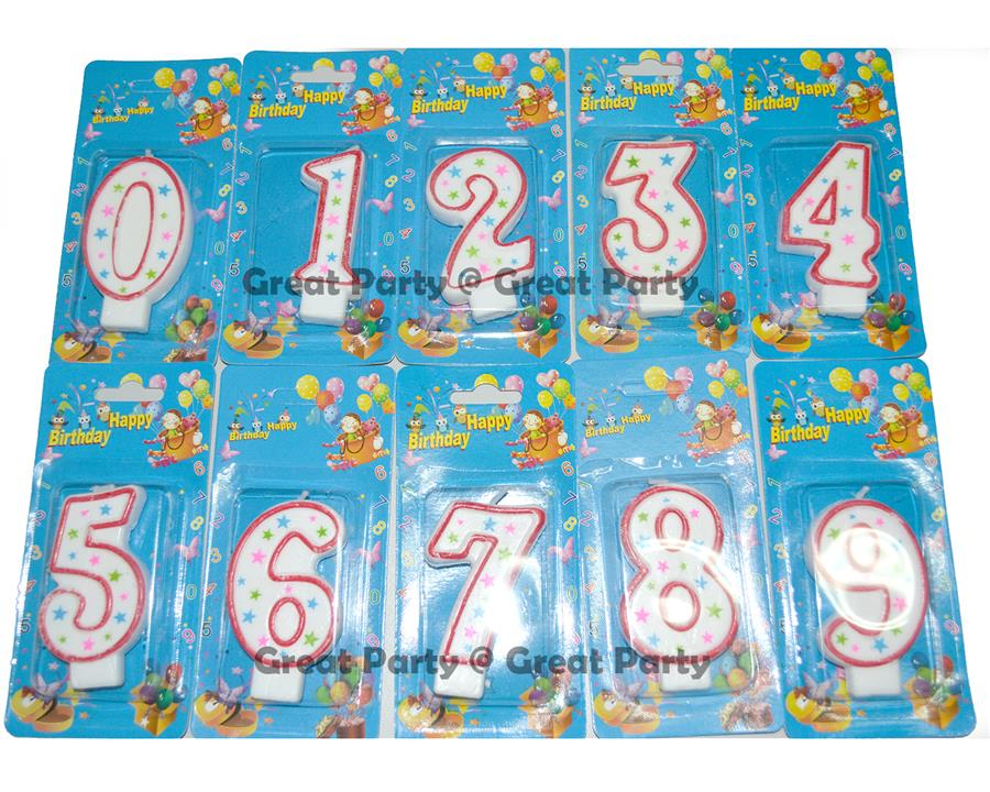 Birthday Candle Numbers 0 9 For Party Baby