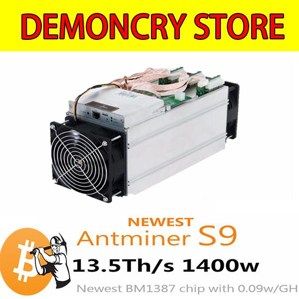 BITCOIN ASIC MINER S9 13.5Ths Antminer BITMAIN (0.09 W/GH) READY STOCK