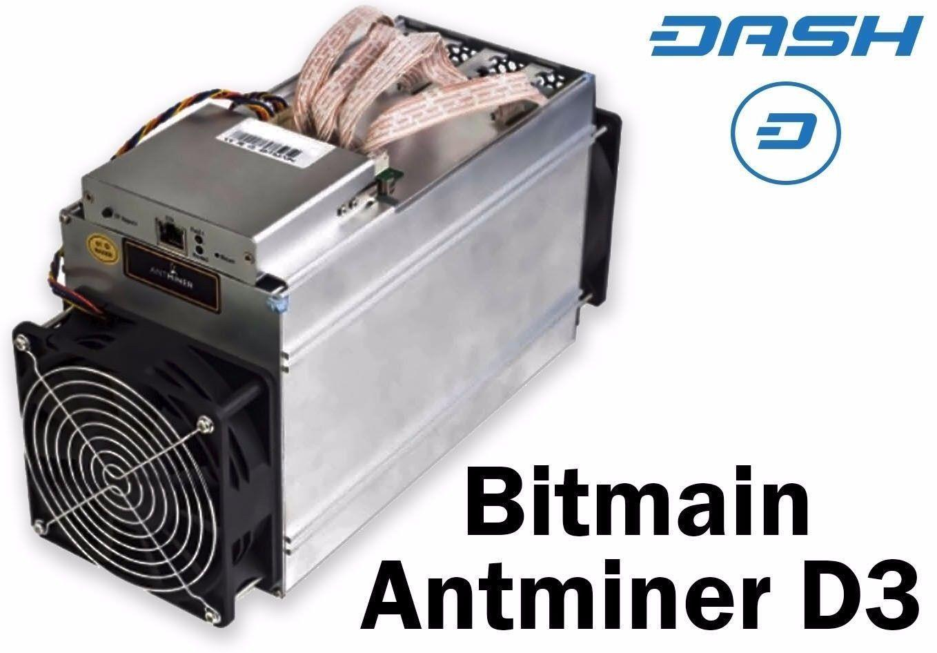 Bitmain Antminer D3 19 3gh S Bitcoin Mining Machine With Psu -