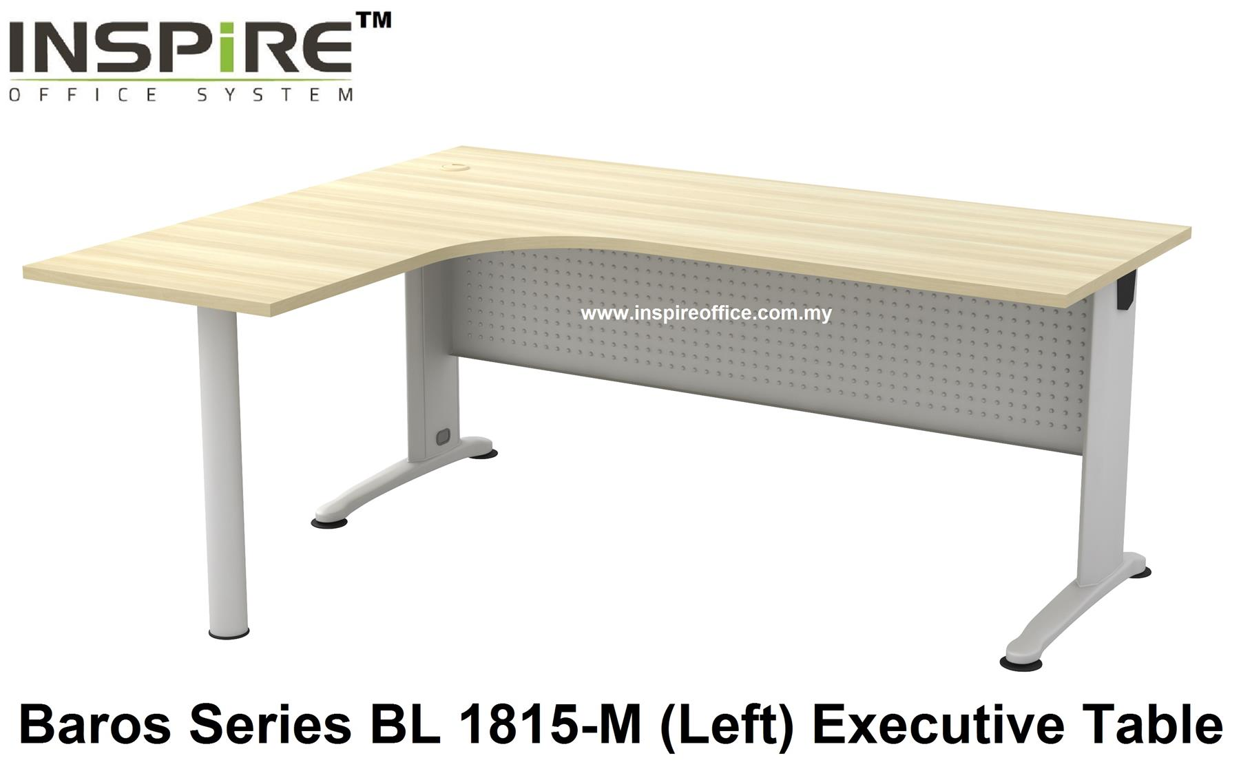 BL-1815-M BAROS SERIES METAL J LEG EXECUTIVE L SHAPED TABLE