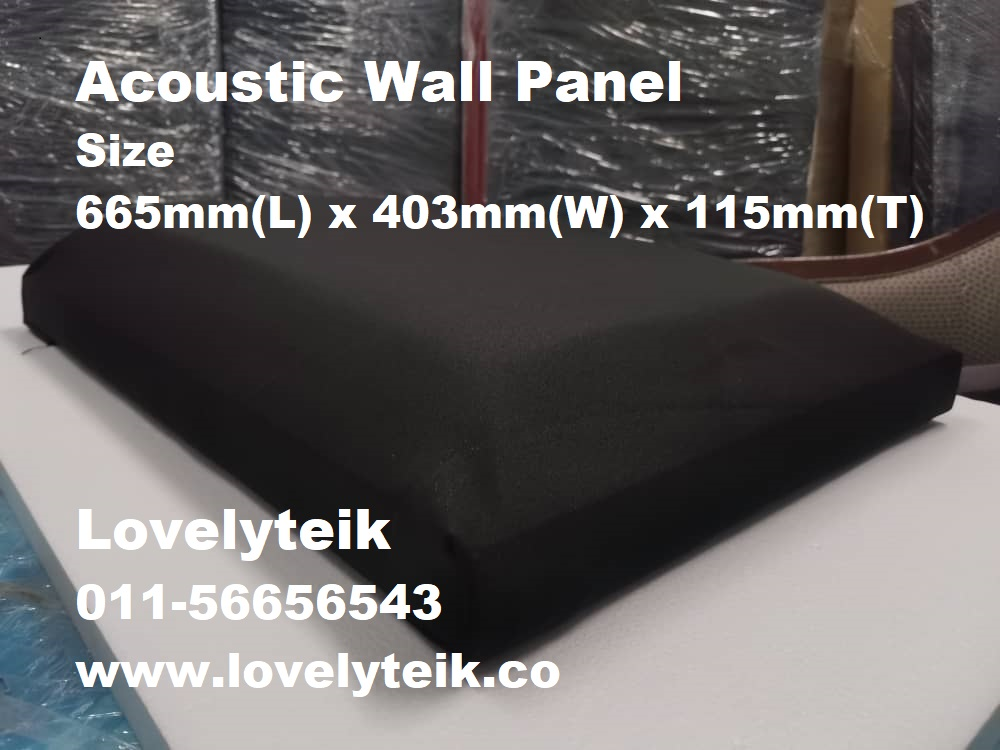 Black Acoustic Wall Panel Echo Reduce Sound Proof Panel