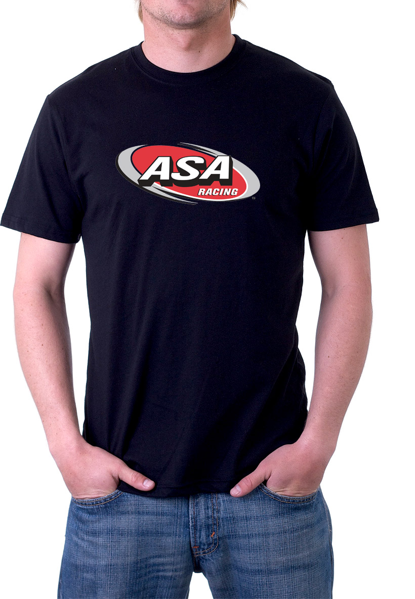 Black ASA Racing Sports T-Shirts RC43MBK