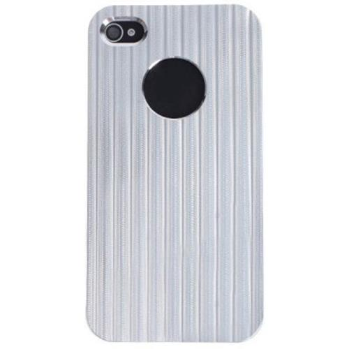 the latest 7cc69 32b09 BLACK BACK CASE FOR IPHONE 4 / 4S (SILVER)