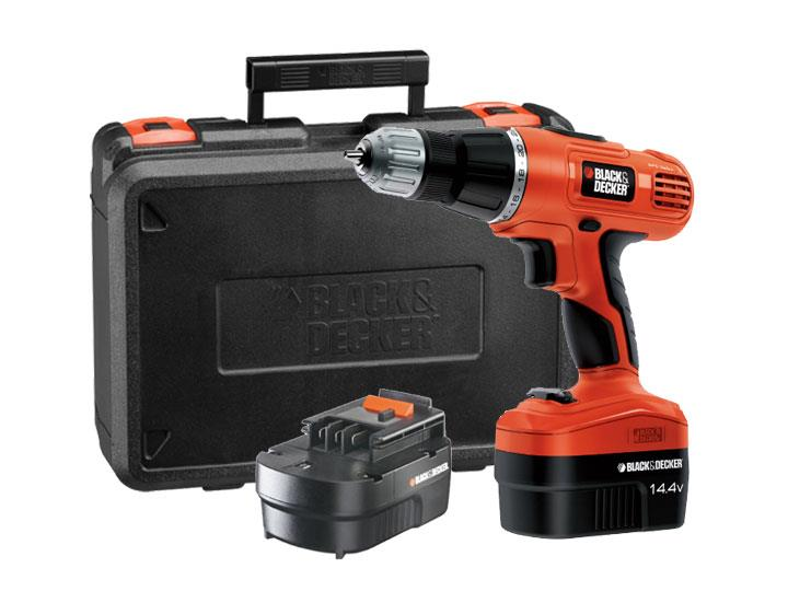 Black and Decker 14.4v EPC14100K Cordless Drill w/100 Pieces Kit