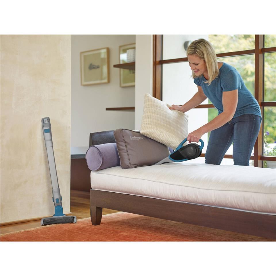 Black+Decker Cordless Lithium 2-IN-1 Floor Extension Stick Vacuum