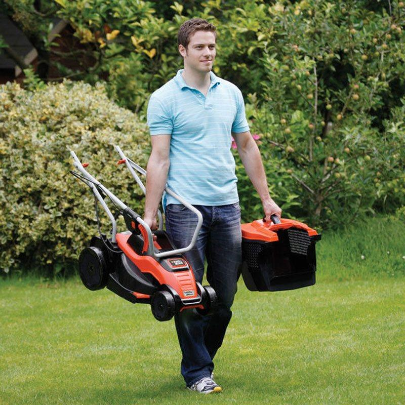 BLACK & DECKER EMAX34SN 1400W 34CM LAWN MOWER (1 YEAR B&D WARRANTY)