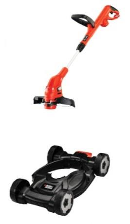 Black&Decker Grass Trimmer/Grass Cutter/Lawn Mower with FREE BASE
