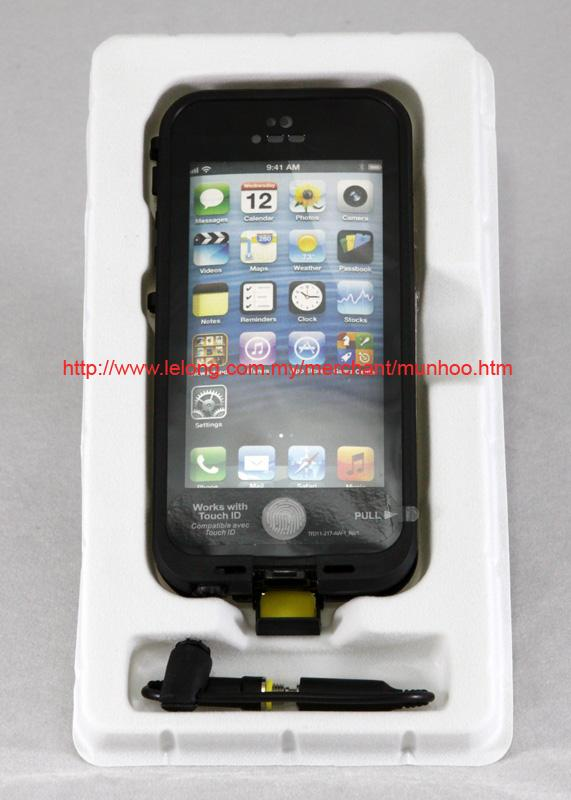 Black Dustproof, Shockproof, Waterproof Swim Case Bag iPhone 5 5s