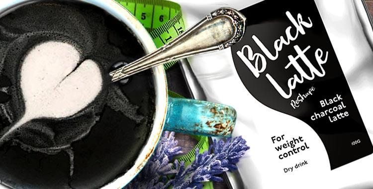 Black Latte - charcoal coffee for weight loss, 100% original from Russ