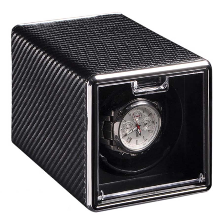 Black Luxury Automatic Single Watch Winder Watches Storage Display Box